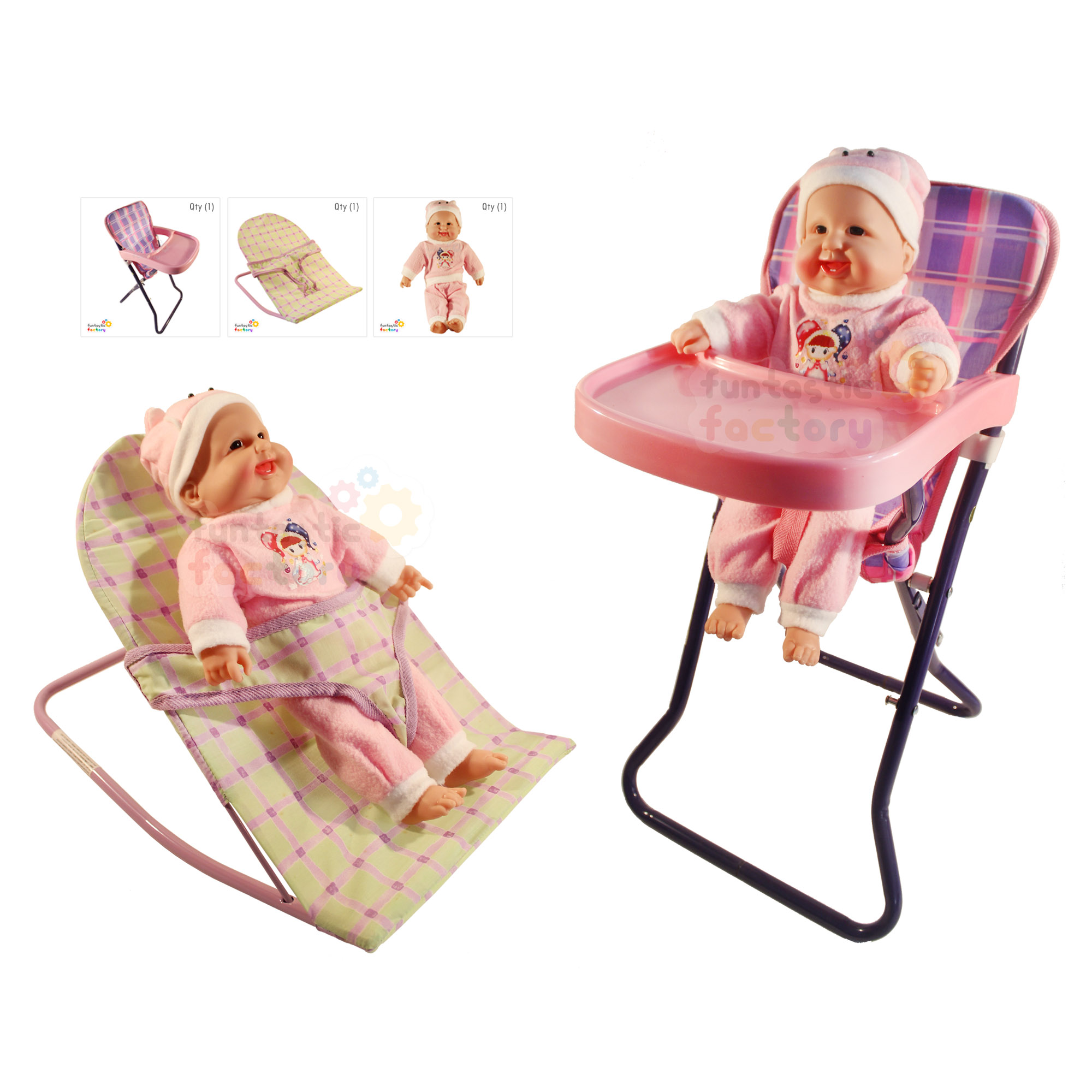 Play Kitchen With Doll High Chair