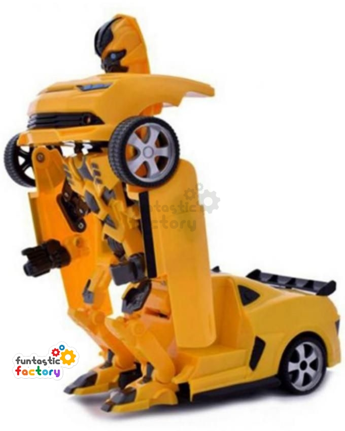 orange and blue helicopter transformer rc transformer bumblebee yellow funtastic factory