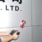Mini RC Zero Gravity Wall Climbing Car - Red