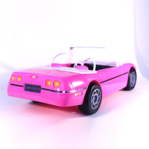 Vintage Mattel 1999 Barbie Cruise Corvette Convertible HOT PINK CAR 3