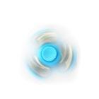 Fidget Spinner with Metallic Rings- Blue